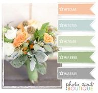 I love the color combo here, more so the sage green and blue grey substitute the peach with yellow