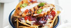 Chicken and Bean Nachos with Lime Guacamole recipe, brought to you by MiNDFOOD.