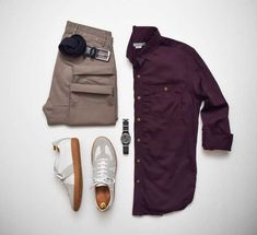 Men Casual Shirt Outfit 🖤 Very Attractive Casual Outfit Grid, Fashion Mode, Suit Fashion, Mens Fashion, Fashion News, Smart Casual Men, Stylish Clothes For Men, Casual Chic, Casual Wear For Men, Men Clothes