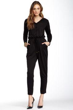 Velvet Torch Long Sleeve Tie Waist Jumpsuit by Velvet Torch on @nordstrom_rack
