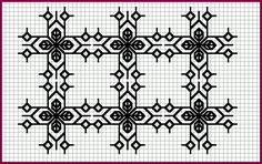Blackwork embroidery-would be lovely on natural linen for pillows or tea towels