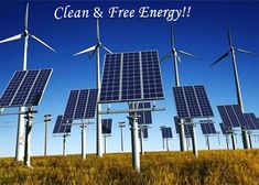 #Nature Provides Clean & Free #Energy For All. Make the most use of these Free #NaturalResources and Minimize the use of #FossilFuels.