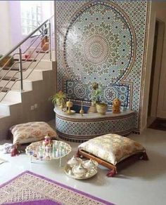 Moroccan Living room ideas, tiles, Archways and Doorways. Are you mesmerized by the detailed architecture and vivid colors of Morocco? How about bringing that beautiful culture into your home? In this post, you will learn how to infuse Moroccan elements i Moroccan Curtains, Moroccan Home Decor, Moroccan Interiors, Moroccan Design, Moroccan Style, Moroccan Room, Moroccan Living Rooms, Moroccan Furniture, Bedroom Furniture