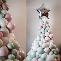 Beautiful balloons by the event specialists. Stylish and fun balloon gifts hand delivered. Balloon printing, parties and more! Balloon Tree, Balloon Gift, Christmas Balloons, Christmas Party Decorations, Ornament Wreath, Flower Arrangements, Xmas, Fun, December