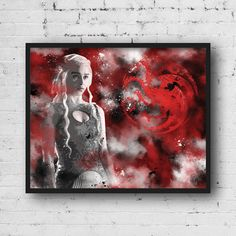 Khaleesi Daenerys Targaryen GOT poster, is a high quality printable wall art.  This is a unique handmade digital design made by LzsArt! Print out this cool piece of art from desktop printer or local print shop to decorate you home! You can print on any material you prefer: Canvas, photographic paper, poster paper, etc... Just download and print it!  --INSTANT DOWNLOAD-- NO PHYSICAL PRINT INCLUDED  -----------------------------------------  Order includes: 4 high quality Jpeg files + Jpeg…