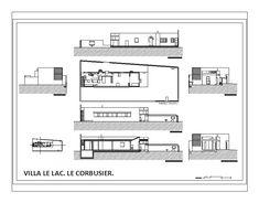 Villa le lac - le corbusier in AutoCAD Student Work, College Students, Villa, Casa Le Corbusier, U Shaped Staircase, Cad Blocks, Layout, Autocad, Interior Architecture