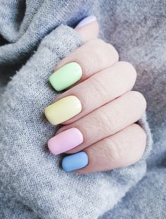 Funky Nails, Cute Nails, Stylish Nails, Trendy Nails, Simple Nail Designs, Nail Art Designs, Nail Color Combinations, Ongles Forts, Pretty Nail Art