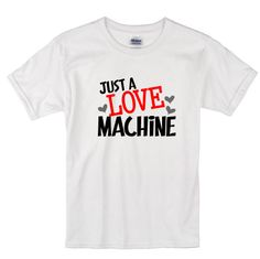 Just a love machine valentines shirt boys by HBRCreativeDesigns