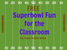 Boy Mama Teacher Mama: FREE Superbowl Fun for the Classroom