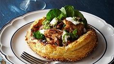Spiced Chicken and Caramelised Onion Tarts