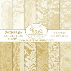 Lace Digital Paper, Digital Paper Gold, Gold Lace Digital Paper, Digital Paper Vintage, 50th Anniversary Digital paper,  Instant download, 8.5 x 11 inches and 12 x 12 inches,photo background paper.