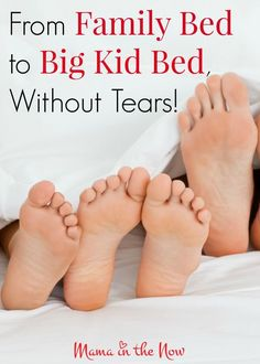 From family bed to big kid bed, without tears! A gentle approach for toddlers and preschoolers to end their bed-sharing and co-sleeping relationship. Cosleeping Toddler, Toddler Bedtime, Kids And Parenting, Parenting Hacks, Single Parenting, Family Bed, Big Family, Kids Fever, Baby Fever