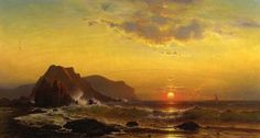 Mauritz Frederick Hendrik De Haas (1832-1895) ~ Sunset Over The Waves