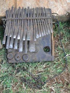 Old African Mbira Thumb Piano. Zimbabwe Great Patina.
