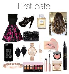 """First date❤"" by hanhaz1 on Polyvore featuring Valentino, Chanel, Casetify, Roberto Demeglio, Michael Kors, Too Faced Cosmetics, Stila and MAC Cosmetics"