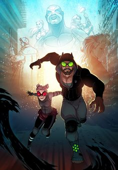 Cat and his partner/daughter red vixen work together to take on evil gangs.Cat aka Simon Rounder has the ability of cat senses like super hearing night vision flexibility speed balance smell and retractable claws.Red vixen aka Danica Rounder has speed and is a skilled gymnast.she also has enhanced hearing.