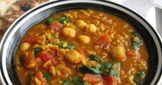 Harira: Moroccan Chickpea Stew with Lentils and Rice