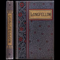 1883 HENRY WADSWORTH LONGFELLOW POEMS RARE ILLUSTRATED FINE BINDING ENGRAVINGS