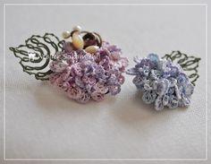 うず紫陽花をタティングで。 : タティングレース便り ~アトリエ さかみち~