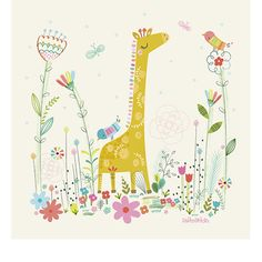 Tableau Girafe - Lilipinso and Co