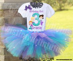 Mermaid Birthday Tutu Outfit | Mermaid Birthday Shirt | Mermaid Birthday Outfit | Mermaid Birthday Party Ideas | Twistin Twirlin Tutus