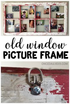 Old window picture frame wall art.home decor distressed window. Window Picture, Picture Frames, Wall Decorations, Diy Wall Decor, Home Decor, Window Hanging, Easy Diy Projects, Framed Wall Art, Something To Do