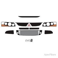 Mitsubishi Lancer Evolution 8 simple front end design