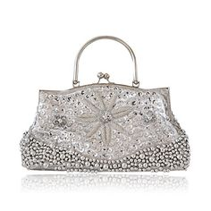 Silk With Sequin/ Imitation Pearl Evening Handbags/ Clutches/ Top Handle Bags More Colors Available – USD $ 39.99