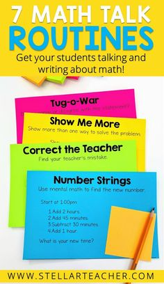 You have just a few seconds to get your students engaged at the start of every math lesson. Too often, we don't spend enough time planning how we are going to start our lessons and we just jump right… Math Lesson Plans, Math Lessons, Fractions, Math Blocks, Maths Puzzles, Fifth Grade Math, Sixth Grade, Fourth Grade, Math Talk