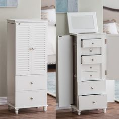 Belham Living Locking Shutter Front Jewelry Armoire - Jewelry Armoires at Hayneedle