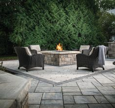 tips to help clients with hardscaping from total landscape care mag Backyard Patio Designs, Backyard Landscaping, Patio Ideas, Backyard Ideas, Outdoor Fire, Outdoor Living, Outdoor Spaces, Outdoor Decor, Fire Pit Backyard