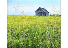 Prarie thread painting by Monika Kinner-Whalen.