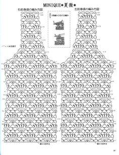 Captivating Crochet a Bodycon Dress Top Ideas. Dazzling Crochet a Bodycon Dress Top Ideas. Débardeurs Au Crochet, Gilet Crochet, Crochet Shirt, Crochet Jacket, Crochet Diagram, Freeform Crochet, Crochet Cardigan, Irish Crochet, Crochet Stitches
