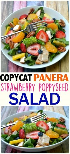 Copycat Panera Bread Strawberry Poppyseed Salad Copycat Panera Bread Strawberry Poppyseed Salad,Food Copycat Panera Bread - Make The Best of Everything Panera Bread, Panera Strawberry Poppyseed Salad, Strawberry Salad Recipes, Clean Eating Snacks, Healthy Eating, How To Make Salad, Healthy Salad Recipes, Healthy Corn, Skinny Recipes