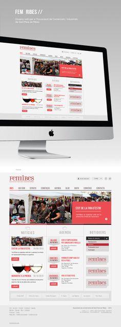 Web per a Associació de Comerciants i Industrials de Sant Pere de Ribes: FEM RIBES. Website for of Merchants and Industrialists Association