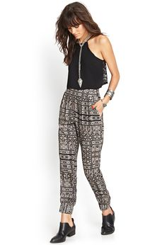 Tribal-Inspired Woven Joggers #SummerForever #MustHave
