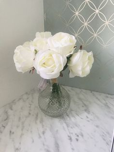 Excited to share the latest addition to my #etsy shop: Ivory White Rose Artificial Faux Flower Arrangement With Glass Vase Centrepiece Home Interior Decor Party Summer Decor Floral Silk House Ivory Roses, White Roses, Faux Flower Arrangements, Tree Of Life Necklace, Vase Centerpieces, Summer Parties, Ivory White, Faux Flowers, Contemporary Design