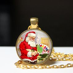Workshop Santa Claus Christmas pendant New by SleepyCatPendants