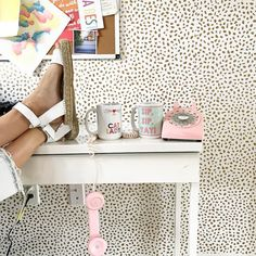 Coffee is all we need this Monday morning...and a cute mug wouldn't hurt! We love dressing up our desk, so this is major office inspiration!