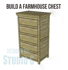 "Free Plans to Build a Farmhouse Chest Earlier, I posted plans for the Farmhouse Cabinet and today, I'm posting the free plans to build a Farmhouse chest. This would be great ""doubled"" (omitting the..."