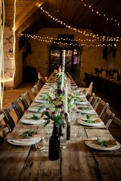 Barn interior (view from door) Rustic Wedding, Wedding Venues, Table Settings, Barn, Table Decorations, Interior, Furniture, Home Decor, Ideas
