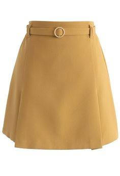 An Eye for Faddish Bud Skirt in Mustard - New Arrivals - Retro, Indie and Unique Fashion