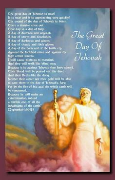 The great day of Jehovah is near! It is near and it is approaching very quickly… Jesus Our Savior, Jesus Christ, Bible Translations, Battle Cry, Everlasting Life, Bible Knowledge, Bible Truth, Jehovah's Witnesses, Bible Lessons