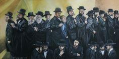 Ortodoxos. Óleo sobre lienzo. 80x40 cm. 750 €.