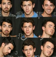 The many faces of the Jonas Brothers