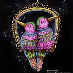 @jessikacoloring their gorgeous lovebirds adult colouring page from @lidehalloberg's bookloured with the Chameleon pens and a white get pen. #whitegelpen #lovebirds #chameleonpens #glitter #fairytale #sagoliktenmålarbok #emelielidehällöberg #color#coloring #coloringbook #coloringforadults #sagor #målarbok #love #gold #shine