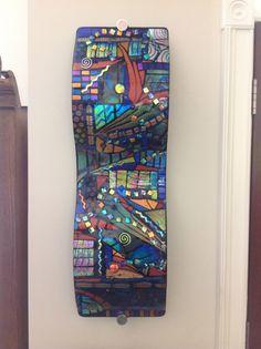 Fused Glass Art, Dichroic Glass, Glass Installation, Glass Panels, Mosaics, Studio, Glasses, Abstract, Wall