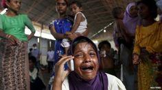 A Rohingya migrant w