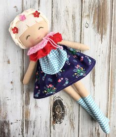 Vintage Style Rag Doll by SpunCandy