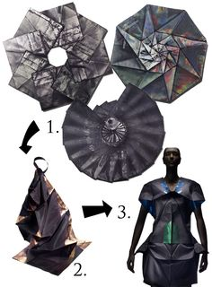 63 Ideas for origami pattern design issey miyake Origami Design, Origami Art, Issey Miyake, Origami Clothing, Theme Design, Origami Heart With Wings, Origami Patterns, Origami Dress, Origami Decoration
